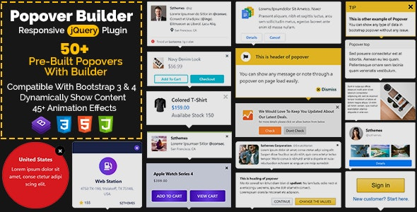 Popover Builder Responsive jQuery Plugin - CodeCanyon Item for Sale