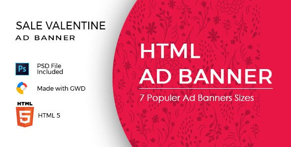 Valentine Day Sale Ad Banners