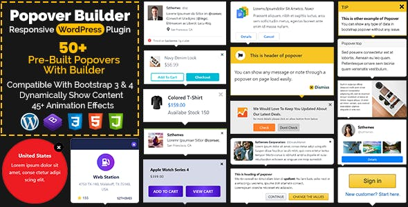 Popover Builder Responsive WordPress Plugin