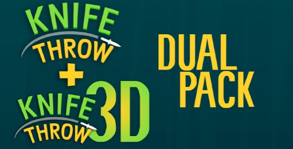 Knife Throw Dual Pack - Buildbox 2 and Buildbox 3 Template Bundle