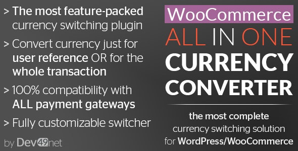WooCommerce All in One Currency Converter by Dev49net