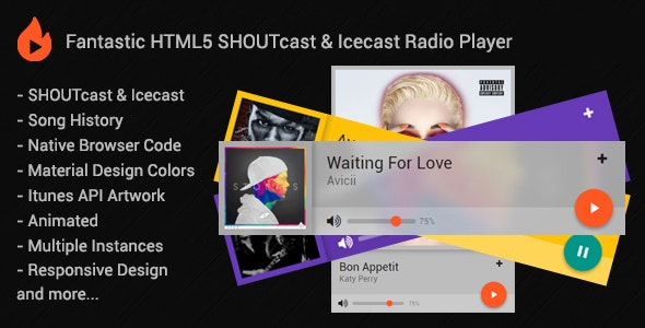 HTML5 SHOUTcast & Icecast Radio Player by shoutcastapps