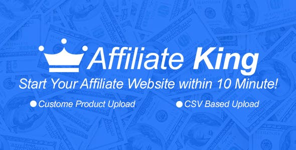 Affiliate King - CSV Based All in One Affiliate Store