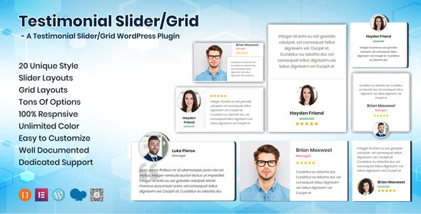 Testimonials Slider / Grid - WordPress Testimonials Plugin