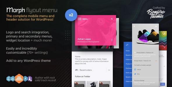 Morph: Flyout Mobile Menu for WordPress - CodeCanyon Item for Sale