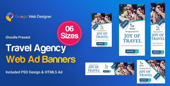 Travel Agency Banners HTML5 D55 Ad