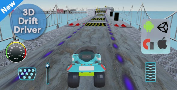 3D Simulator Drift Driver (Unity 3D Game)
