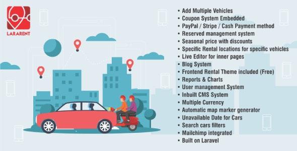 LaraRent - Multipurpose Vehicle Rental System Laravel Script - CodeCanyon Item for Sale