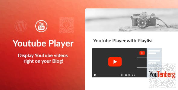 Youtenberg - Gutenberg YouTube Player with Playlist - CodeCanyon Item for Sale