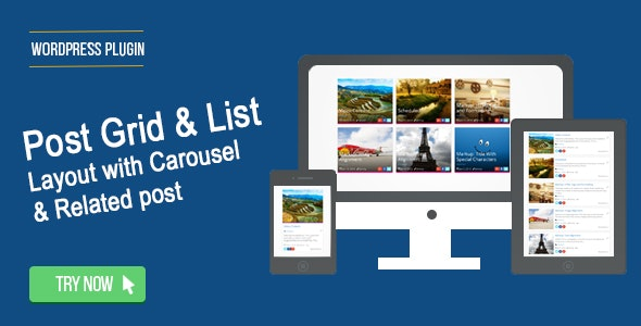 Wordpress Post Grid / List / Timeline Layout With Carousel & Related Post - CodeCanyon Item for Sale