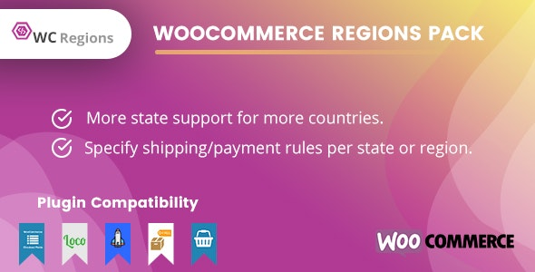 WooCommerce Regions Pack - CodeCanyon Item for Sale