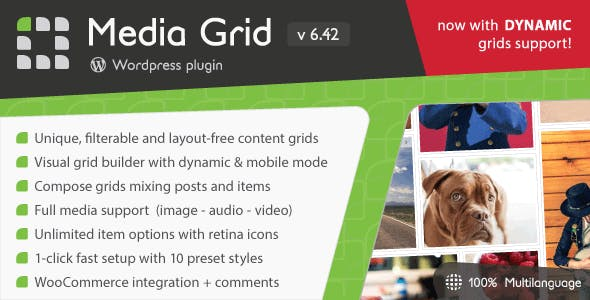 Media Grid - Wordpress Responsive Portfolio        Nulled