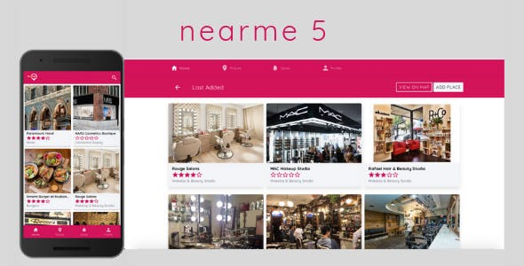Nearme 6.0 - Ionic 5 Starter / Template for location based apps with Admin Panel