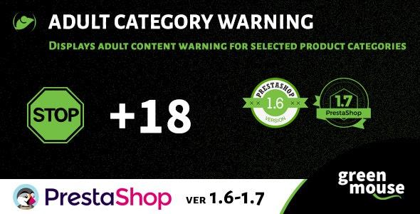 Prestashop Adult Category Warning - CodeCanyon Item for Sale