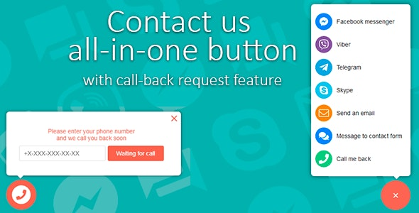 Contact Us All-in-One Button with Callback Request Feature by Areama