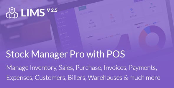 LIMS Stock Manager Pro with POS, HRM, Accounting