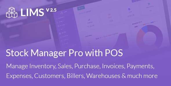 LIMS Stock Manager Pro with POS, HRM, Accounting by