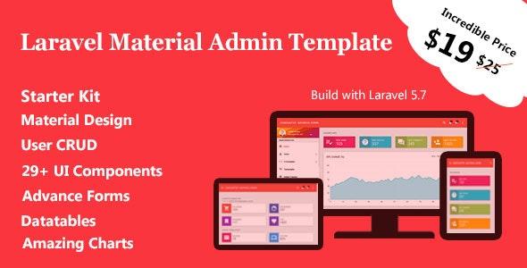 LaraMaterial - Laravel Admin Template - CodeCanyon Item for Sale