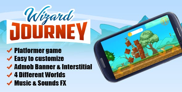 Wizard Journey - Android Platformer Game with Admob