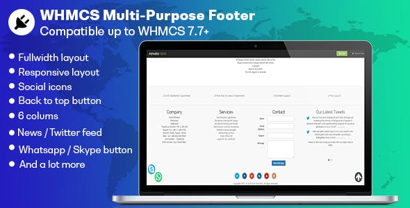 WHMCS Multi-purpose Footer