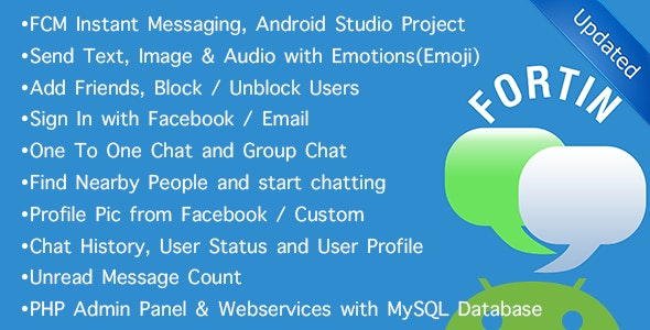 Fortin FCM (GCM)  Chat - Location, Group, Individual - CodeCanyon Item for Sale