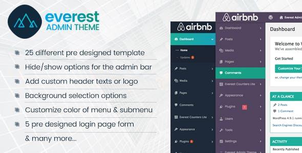 Everest Admin Theme - WordPress Backend customizer
