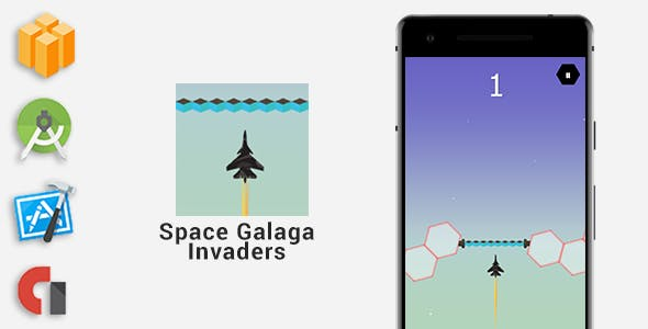 Space Galaga Invaders - Buildbox Template - CodeCanyon Item for Sale