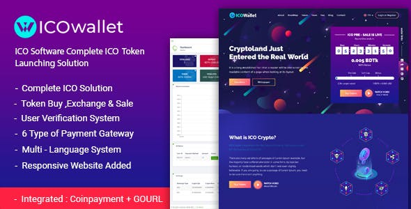 ICOWallet- ICO Script | Complete ICO Software and Token Launching Solution - CodeCanyon Item for Sale