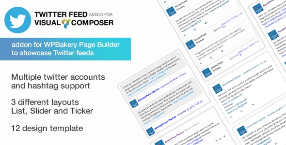 Twitter Feed Addon for Visual Composer - WPBakery Twitter Addon for WordPress - CodeCanyon Item for Sale