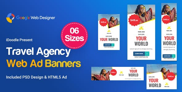 Travel Agency Banners HTML5 D56 Ad