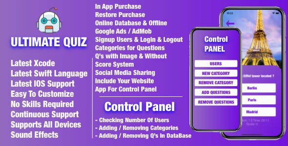 Ultimate Quiz + Control Panel