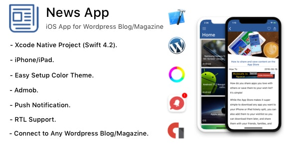 News App - iOS App for Wordpress Blog/Magazine by