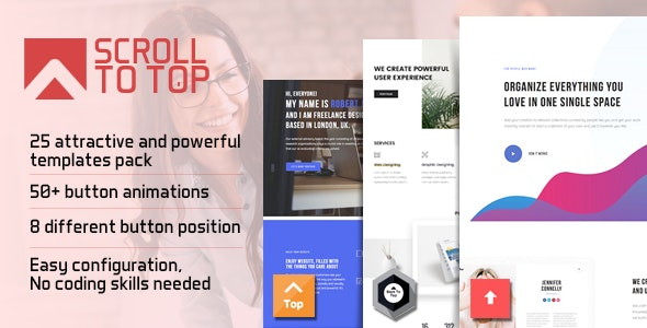 Smart Scroll to Top - Faster and Easier scroll to top plugin for Wordpress - CodeCanyon Item for Sale