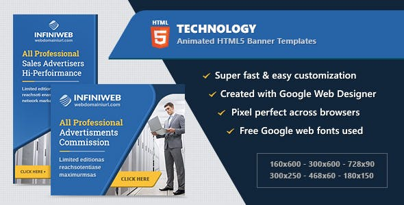 HTML5 Technology Animated Banner Ads