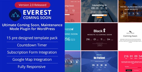 Everest Coming Soon - Ultimate Coming Soon, Maintenance Mode Plugin for WordPress