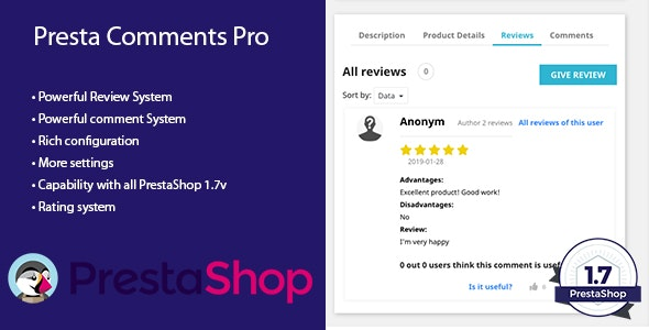 Presta Comments Pro - CodeCanyon Item for Sale