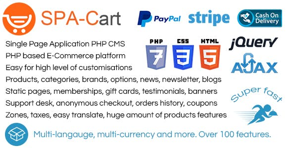 SPA-Cart - CMS. Very fast ajaxfied pages. Fully featured eCommerce platform. Single Page Application