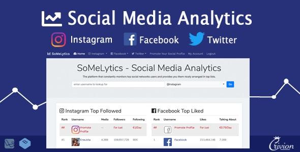 SoMeLytics - Social Media Analytics Platform - CodeCanyon Item for Sale