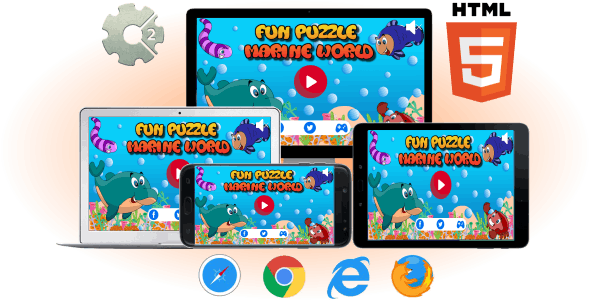 Fun Puzzle Marine World - HTML5 Casual Game