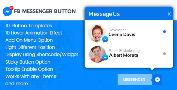 WP FB Messenger Button - Premium FB Messenger Button Plugin for WordPress - CodeCanyon Item for Sale