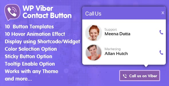 WP Viber Contact Button  - Premium Viber Contact Button Plugin for WordPress