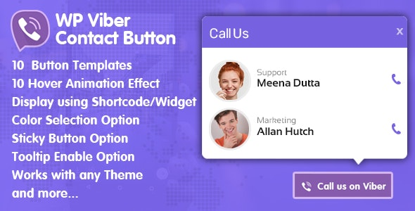 WP Viber Contact Button  - Premium Viber Contact Button Plugin for WordPress - CodeCanyon Item for Sale