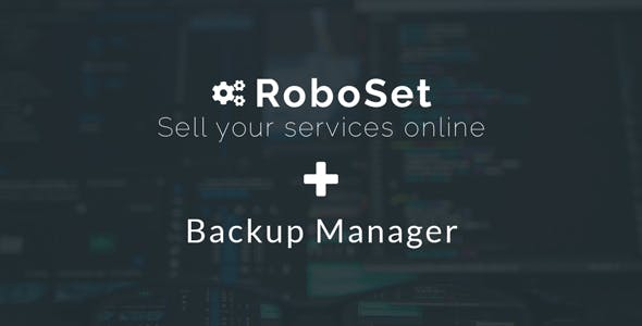 Backup Manager for RoboSet