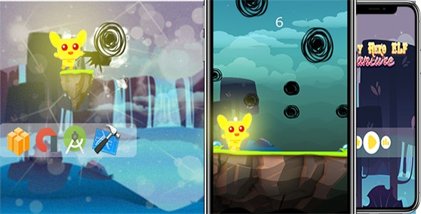 Falling Hero Elfy -  Ready For Publish + Xcode - CodeCanyon Item for Sale