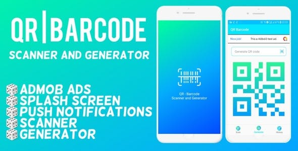 QR | Barcode Generator and Scanner Android App with Admob