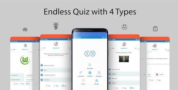 Endless Quiz with Admin Panel and Firebase Realtime