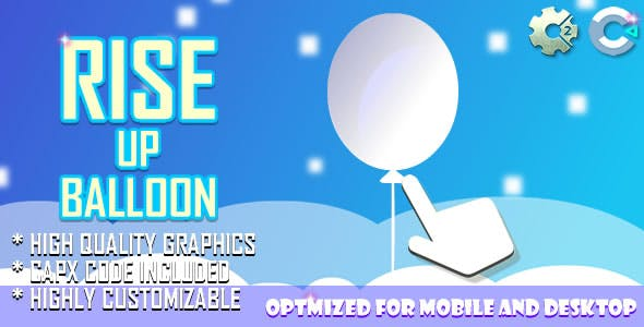 Rise Up Balloon (C2, C3, HTML5) Game.