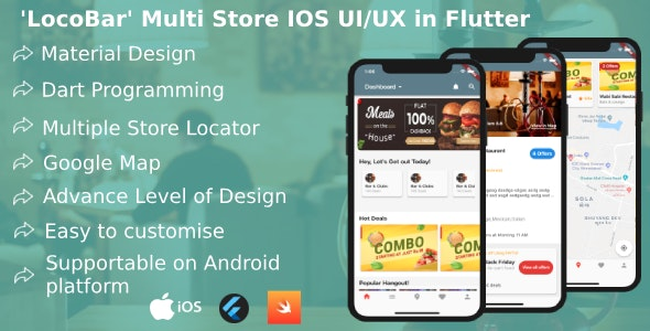 'LocoBar' Multistore IOS App Templates in Flutter - CodeCanyon Item for Sale