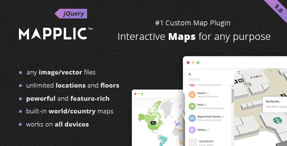 Mapplic - Custom Interactive Map jQuery Plugin        Nulled