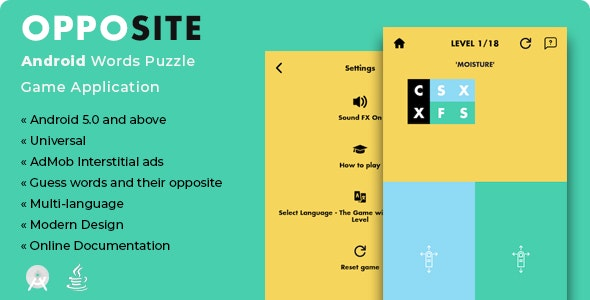 Opposite | Android Words Puzzle Game Application - CodeCanyon Item for Sale